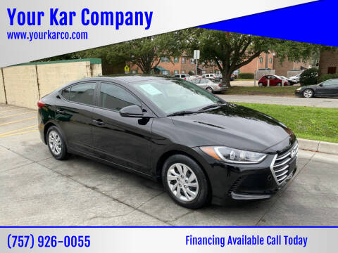 2017 Hyundai Elantra for sale at Your Kar Company in Norfolk VA