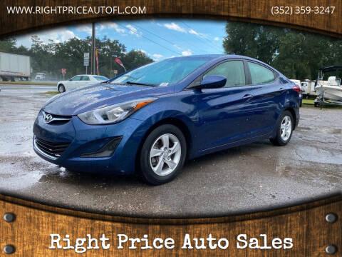 2015 Hyundai Elantra for sale at Right Price Auto Sales in Waldo FL