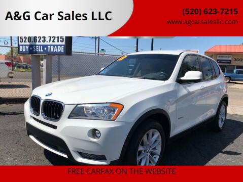 2013 BMW X3 for sale at A&G Car Sales  LLC in Tucson AZ