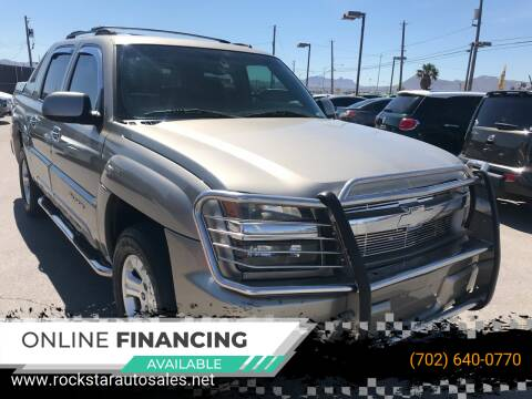 2002 Chevrolet Avalanche for sale at Rock Star Auto Sales in Las Vegas NV