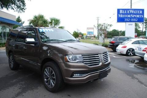 2015 Lincoln Navigator for sale at BlueWater MotorSports in Wilmington NC