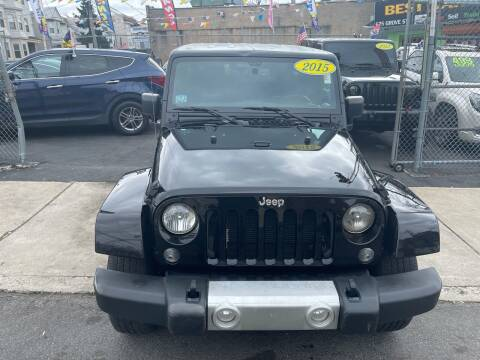 2015 Jeep Wrangler Unlimited for sale at Best Cars R Us LLC in Irvington NJ