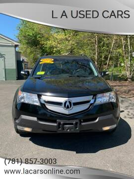 2009 Acura MDX for sale at L A Used Cars in Abington MA