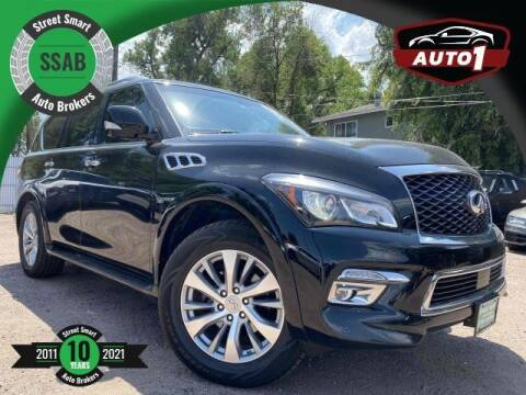 2017 Infiniti QX80 for sale at Street Smart Auto Brokers in Colorado Springs CO