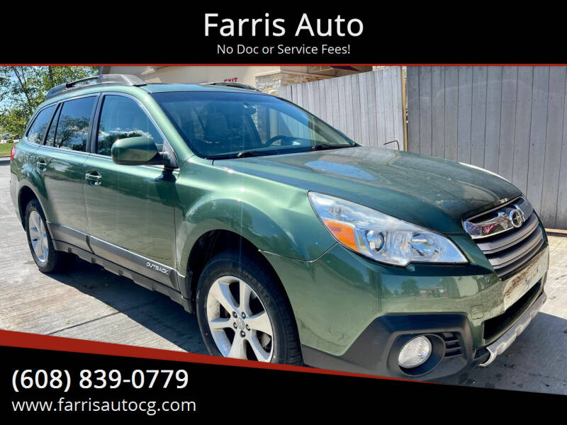 2013 Subaru Outback for sale at Farris Auto - Main Street in Stoughton WI