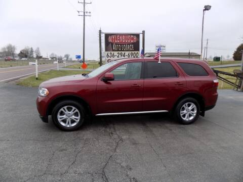 2013 Dodge Durango for sale at MYLENBUSCH AUTO SOURCE in O` Fallon MO