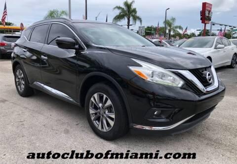 2016 Nissan Murano for sale at AUTO CLUB OF MIAMI, INC in Miami FL