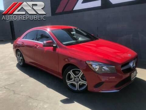 2018 Mercedes-Benz CLA for sale at Auto Republic Fullerton in Fullerton CA