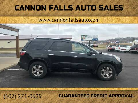2008 GMC Acadia for sale at Cannon Falls Auto Sales in Cannon Falls MN