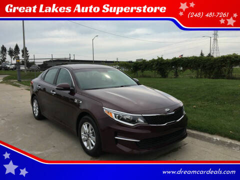 2018 Kia Optima for sale at Great Lakes Auto Superstore in Waterford Township MI