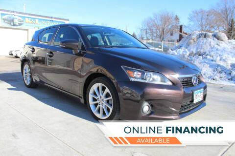 2012 Lexus CT 200h for sale at K & L Auto Sales in Saint Paul MN