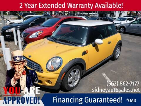 2009 MINI Cooper for sale at Sidney Auto Sales in Downey CA