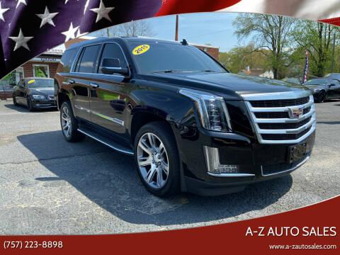 2015 Cadillac Escalade for sale at A-Z Auto Sales in Newport News VA