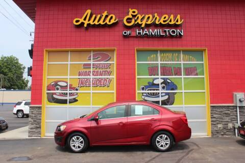 2013 Chevrolet Sonic for sale at AUTO EXPRESS OF HAMILTON LLC in Hamilton OH