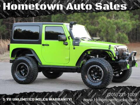 2012 Jeep Wrangler for sale at Hometown Auto Sales - SUVS in Jasper AL