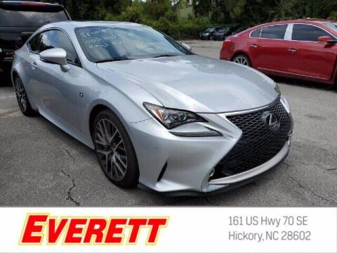 2015 Lexus RC 350 for sale at Everett Chevrolet Buick GMC in Hickory NC