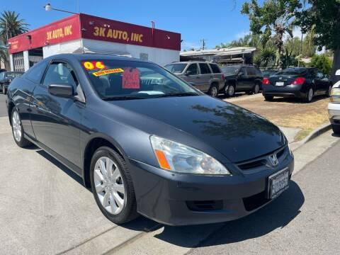 2006 Honda Accord for sale at 3K Auto in Escondido CA