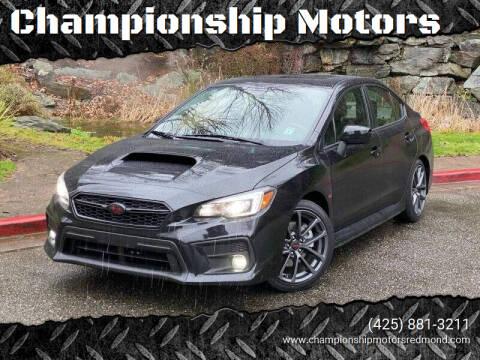 2019 Subaru WRX for sale at Championship Motors in Redmond WA