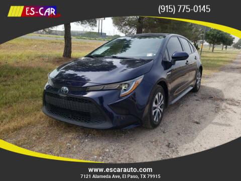 2020 Toyota Corolla Hybrid for sale at Escar Auto in El Paso TX