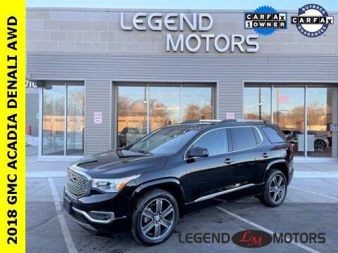 2018 GMC Acadia for sale at Legend Motors of Detroit - Legend Motors of Waterford in Waterford MI