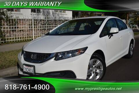 2013 Honda Civic for sale at Prestige Auto Sports Inc in North Hollywood CA