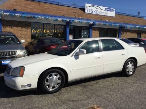 2004 Cadillac DeVille for sale at Duke Automotive Group in Cincinnati OH