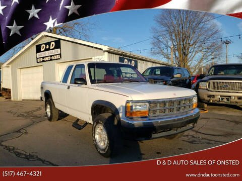 1993 Dodge Dakota for sale at D & D Auto Sales Of Onsted in Onsted   Brooklyn MI