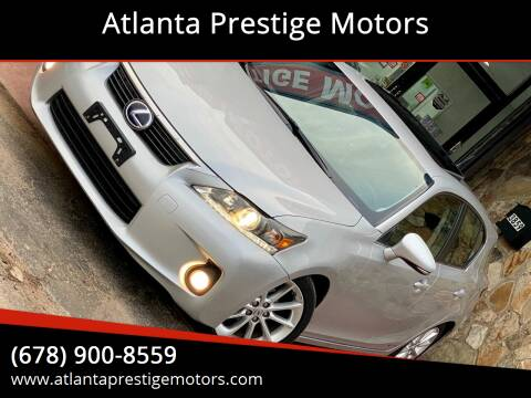 2012 Lexus CT 200h for sale at Atlanta Prestige Motors in Decatur GA