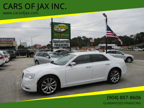 2018 Chrysler 300 for sale at CARS OF JAX INC. in Jacksonville FL