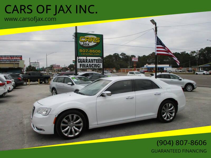 2018 Chrysler 300 for sale at CARS OF JAX INC. in Jacksonville FL