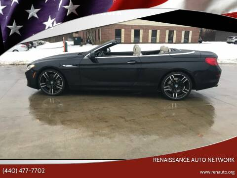 2012 BMW 6 Series for sale at Renaissance Auto Network in Warrensville Heights OH