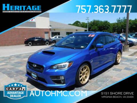 2015 Subaru WRX for sale at Heritage Motor Company in Virginia Beach VA