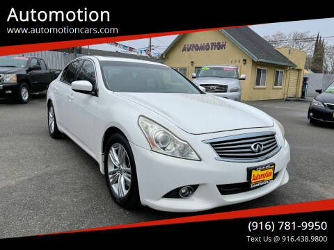 2013 Infiniti G37 Sedan for sale at Automotion in Roseville CA