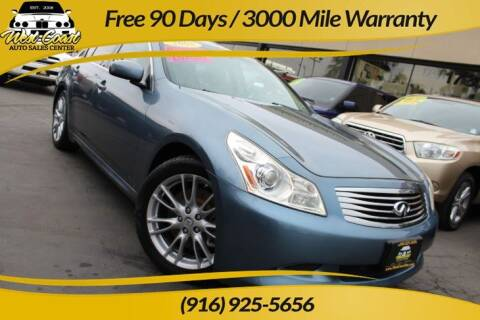 2008 Infiniti G35 for sale at West Coast Auto Sales Center in Sacramento CA