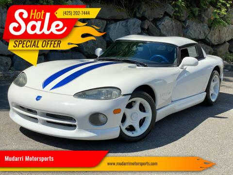 1996 Dodge Viper for sale at Mudarri Motorsports in Kirkland WA