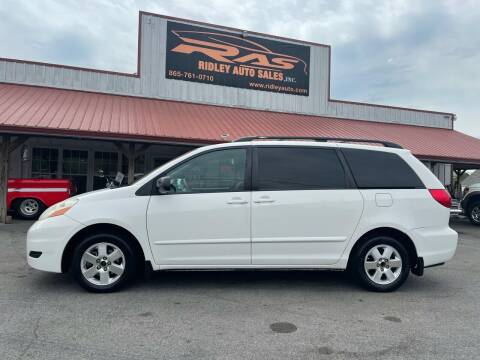 2008 Toyota Sienna for sale at Ridley Auto Sales, Inc. in White Pine TN