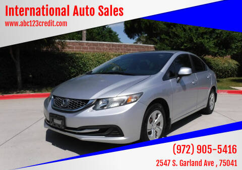 2013 Honda Civic for sale at International Auto Sales in Garland TX