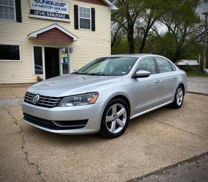 2012 Volkswagen Passat for sale at Unique LA Motor Sales LLC in Byrnes Mill MO