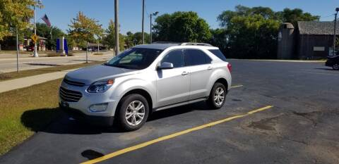 2017 Chevrolet Equinox for sale at SINDIC MOTORCARS INC in Muskego WI