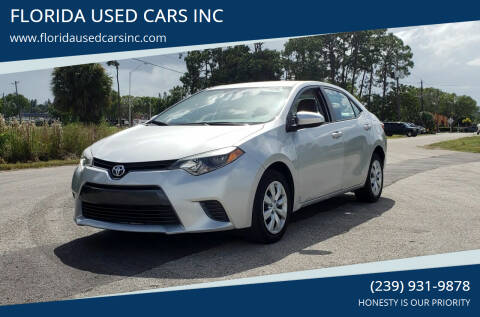 2016 Toyota Corolla for sale at FLORIDA USED CARS INC in Fort Myers FL
