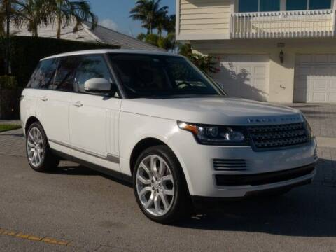 2015 Land Rover Range Rover for sale at Lifetime Automotive Group in Pompano Beach FL
