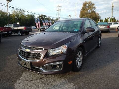 2015 Chevrolet Cruze for sale at P J McCafferty Inc in Langhorne PA