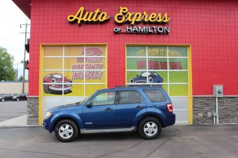 2008 Ford Escape for sale at AUTO EXPRESS OF HAMILTON LLC in Hamilton OH
