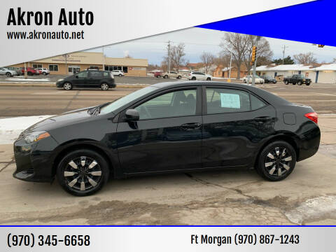 2018 Toyota Corolla for sale at Akron Auto - Fort Morgan in Fort Morgan CO