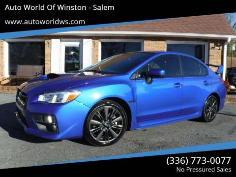 2015 Subaru WRX for sale at Auto World Of Winston - Salem in Winston Salem NC
