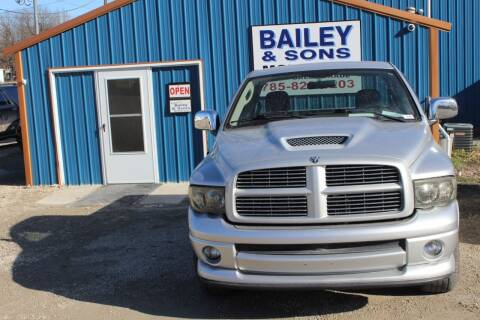 2005 Dodge Ram Pickup 1500 for sale at Bailey & Sons Motor Co in Lyndon KS