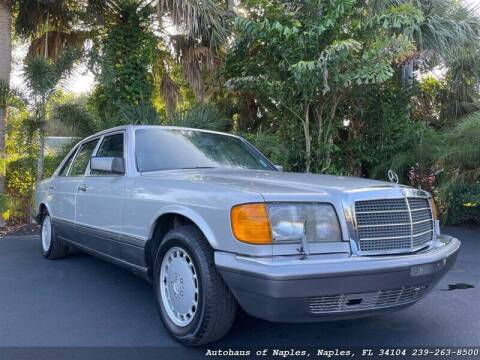 1988 Mercedes-Benz 560-Class for sale at Autohaus of Naples in Naples FL