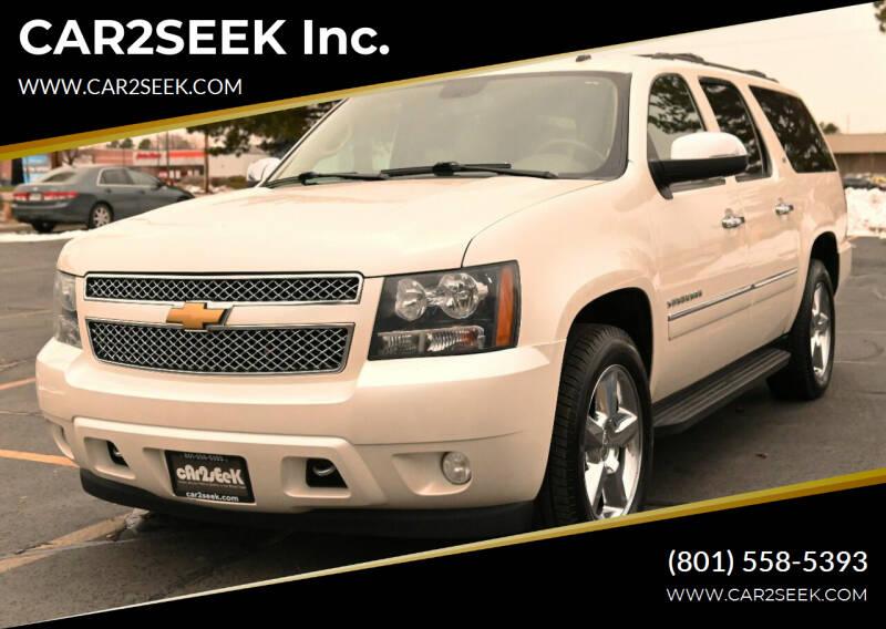 2013 Chevrolet Suburban for sale at CAR2SEEK Inc. in Salt Lake City UT