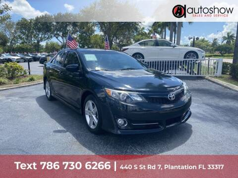2014 Toyota Camry for sale at AUTOSHOW SALES & SERVICE in Plantation FL