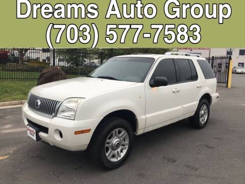 2003 Mercury Mountaineer for sale at Dreams Auto Group LLC in Sterling VA